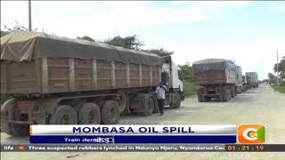 Train derails spilling 250,000 litres of petrol