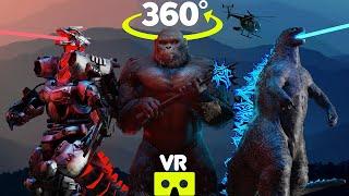 KING KONG 360° - Godzilla vs Mechagodzilla 360°/VR ANIMATION   VR/360° Experience