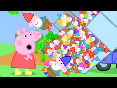 Peppa Pig English Episodes   Mr Bull Brings A Truck Of New Gnomes   Cartoons For Kids