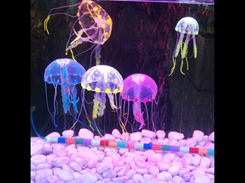 Soft Colorful Silicon Fluorescent Floating Glowing Jellyfish Effect Fish Tank Decoration Aquarium