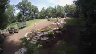 Backyard Stone Steps and Walkways Time Lapse