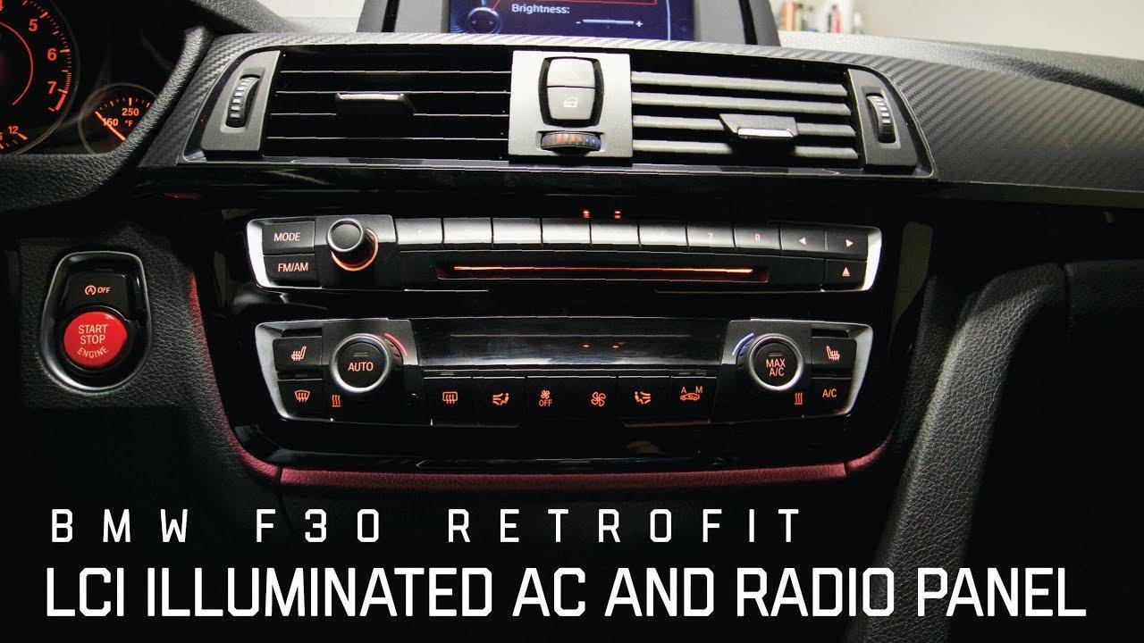 Genuine BMW 3er F30 F31 F34 M3 F80 LCI Illuminated Trim Cover A//C Control Panel