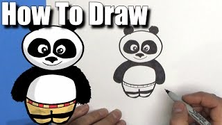 How To Draw Po from Kung Fu Panda - EASY Chibi - Step By Step - Kawaii