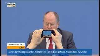 100-Tage-Plan: Pressekonferenz mit Peer Steinbrück am 29.08.2013