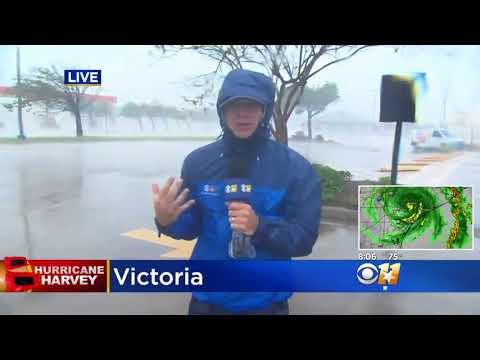 Jason Allen Braves Hurricane Harvey In Victoria 1