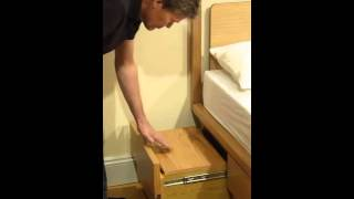 Boxer Storage Bedside Sliding Shelves