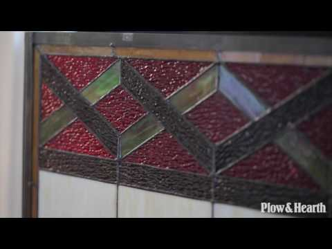 Glenmore Stained Glass Fireplace Screen SKU# 66A67 - Plow & Hearth