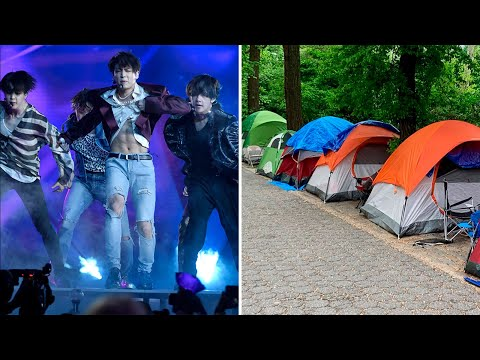 Fans camp out a week for BTS Central Park concert Mp3