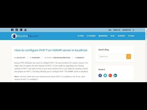Configure PHP 7 In WAMP Server In Localhost | Upgrade Your PHP Version
