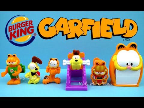 2016 Burger King Garfield The Cat Set Of 6 King Jr Kids Meal Toys