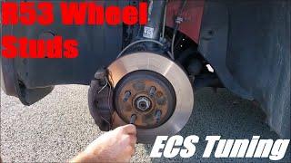 homepage tile video photo for R53 Mini Cooper S ECS Tuning Wheel Studs DIY
