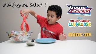 Minifigures Salad - minifigures blind bags opening - Happy Kid TV
