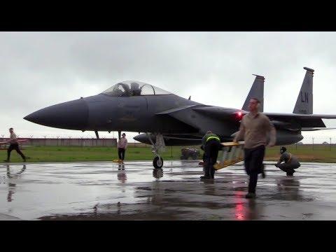 U.S. Sends Fighters Train Near Russia For Baltic Air Policing 2017 – Šiauliai Air Base, Lithuania