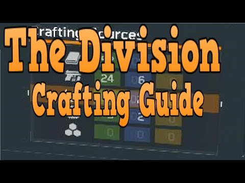 The DIVISION CRAFTING GUIDE: How to get BLUE PRINTS / MATERIALS