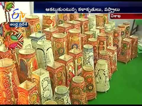DWACRA Exhibition Held At Vizag; Several Hand Made Articles Attracting Everyone