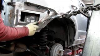 Dodge Caliber. Auto body repair. Ремонт кузова машины.(Repair a back fender and front part of the car. Ремонт заднего крыла и переда машины., 2013-06-16T13:59:55.000Z)