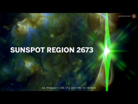 Sunspot region 2673 - X9.3 and X8.2 solar flares!