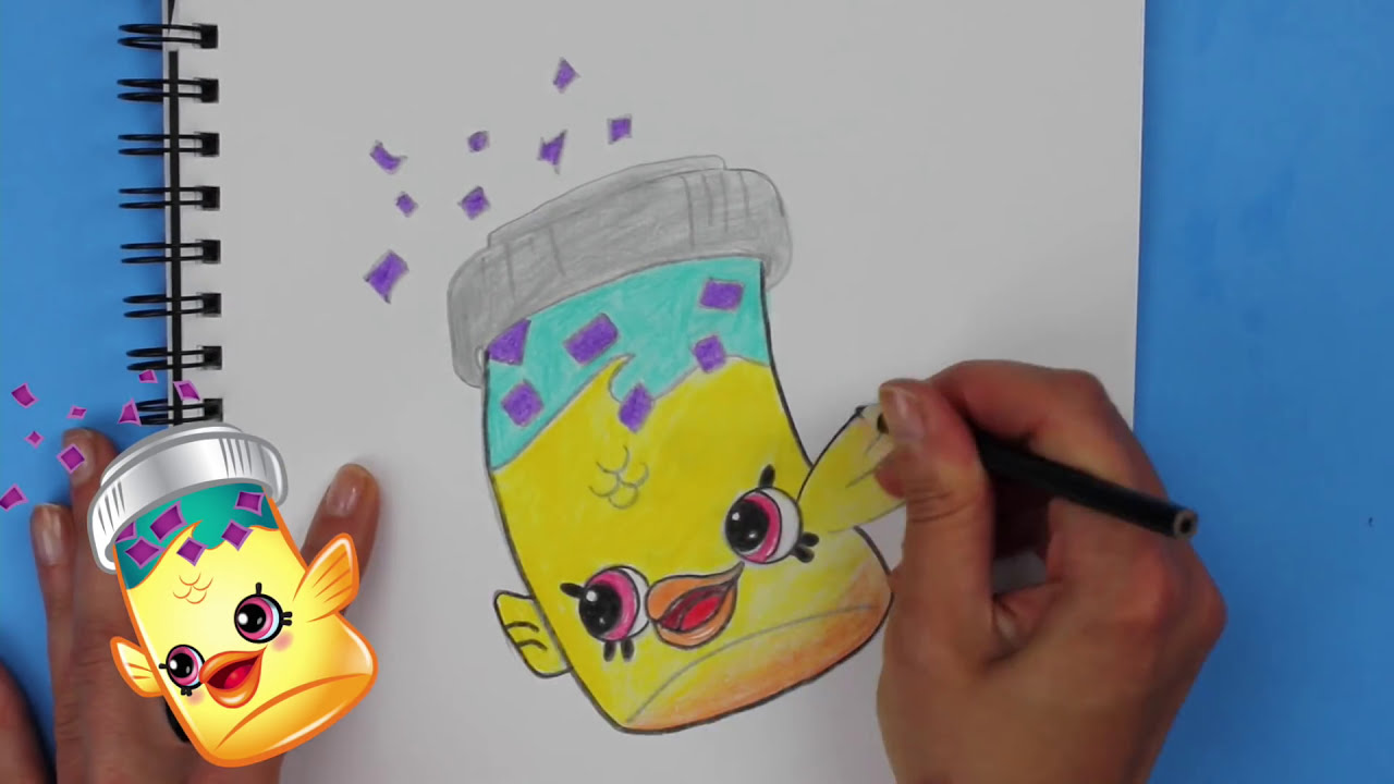 How to draw shopkins season 4 fish flake jake step by for How to season fish