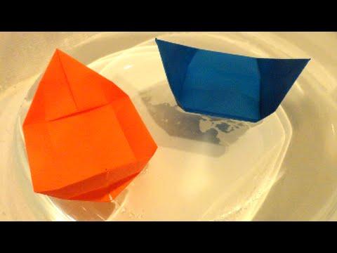 ハート 折り紙:折り紙 ボート 折り方-youtube.com