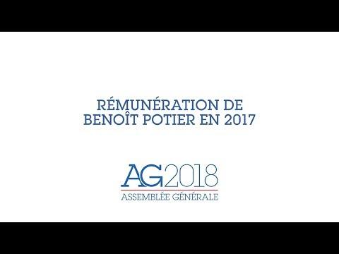 Assemblée Générale Air Liquide 2018 - Rémunération de Benoît Potier en 2017