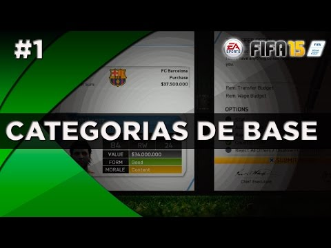 FIFA 15 - Tutorial - Modo Carreira - Categorias de Base, Como Investir??