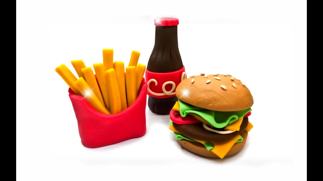 Hamburger Pizza Coca Cola Dollhouse Miniatures Bakery Fast Food