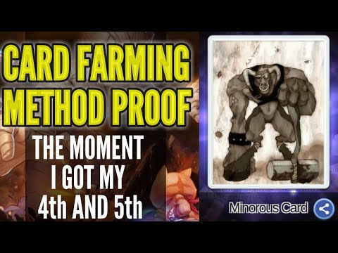 Card farming method proof! The moment I got 2 cards using my method!