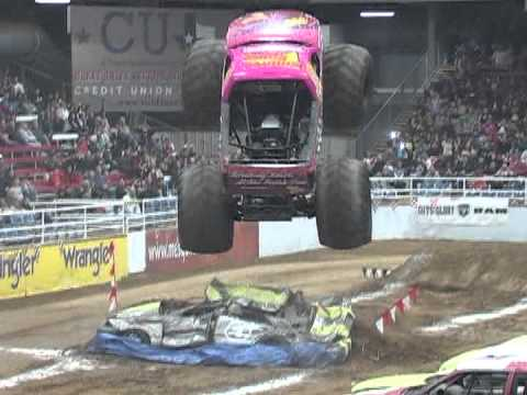 Pink Monster Truck (Unedited - Raw Footage) - YouTube