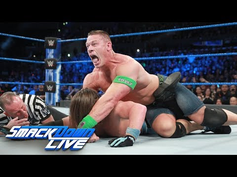 Cena vs. Styles - If Cena wins, he's in WWE Title match at Fastlane: SmackDown LIVE, Feb. 28, 2017 thumbnail