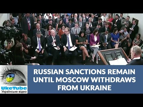 Sanctions will remain until Russia withdraws from Ukraine, White House