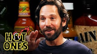 Download Paul Rudd Does a Historic Dab While Eating Spicy Wings | Hot Ones Mp3 and Videos