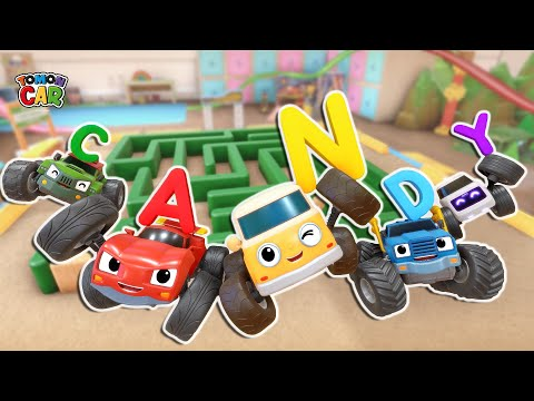 Find The Alphabet Hidden In The Maze! Compilation 30min #5 Kids Songs For Kids Tomoncar World 토몬카