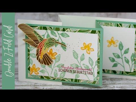 Frühlingshafte Double-Z-Fold-Card