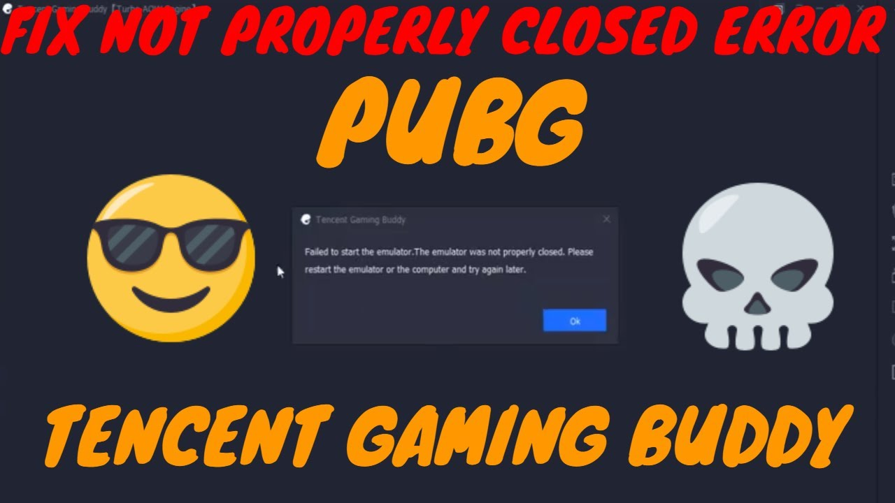 PUBG MOBILE : Fix 'Emulator not closed properly