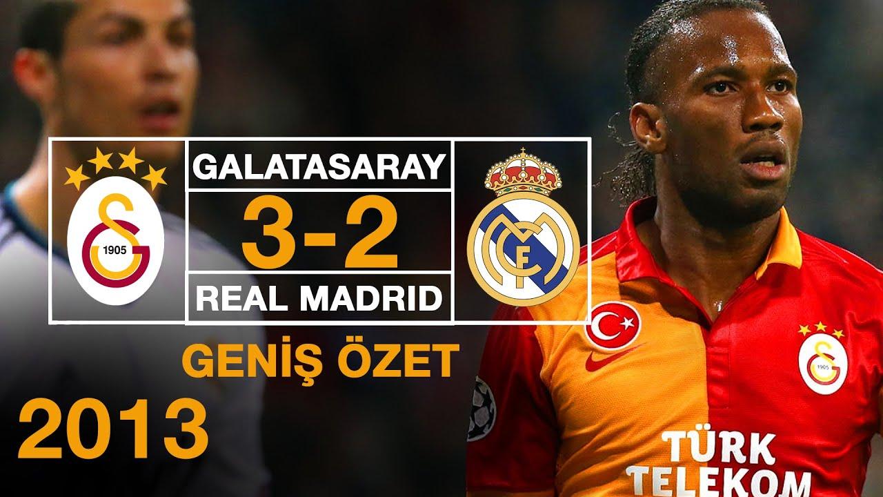 2013 -  Galatasaray 3-2  Real Madrid - Geniş Özet - Full HD