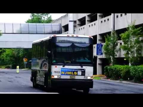New Jersey Transit Route 167T bus passing Glenpointe/Marriott