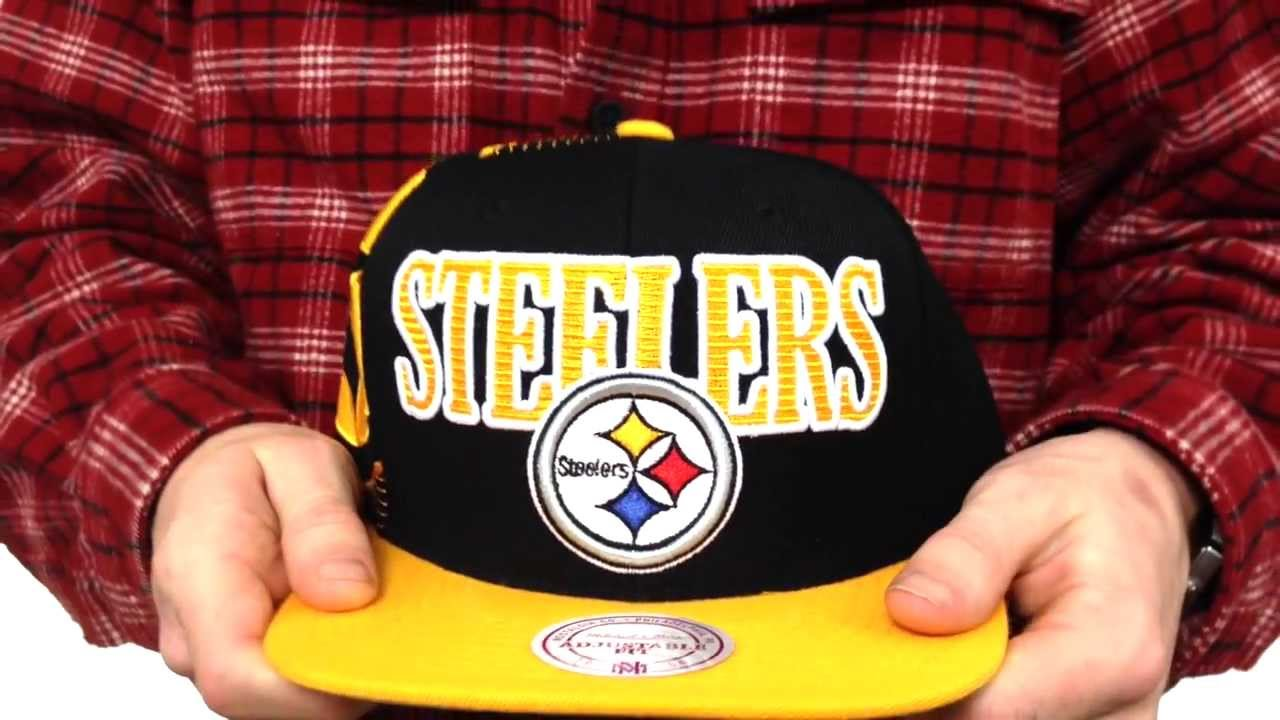 391a7d86 Steelers 'LASER-STITCH SNAPBACK' Black-Gold Hat by Mitchell & Ness
