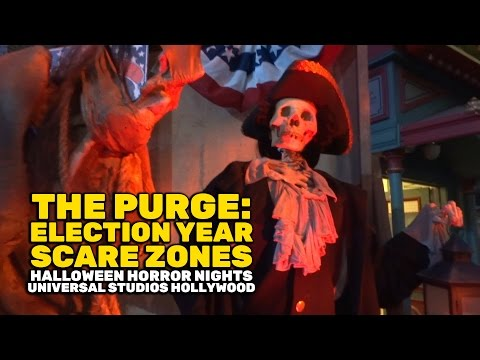 The Purge: Election Year scare zones at Halloween Horror Nights 2016, Universal Studios Hollywood