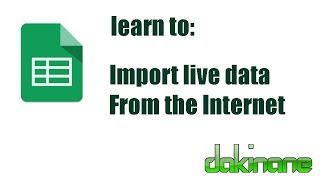 Google Sheets - import live data from the Internet tutorial