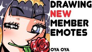 【DRAWING】 Drawing New Member Emotes!!