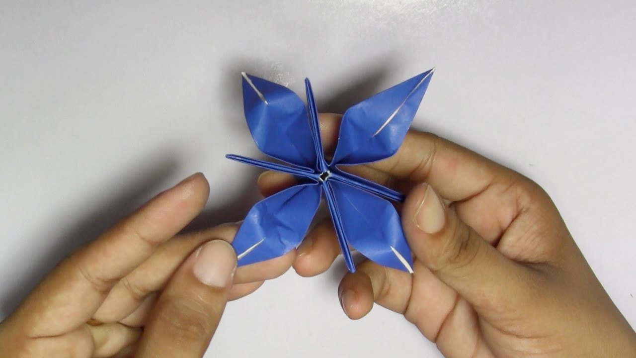 origami easy flower for children hand work handiworks