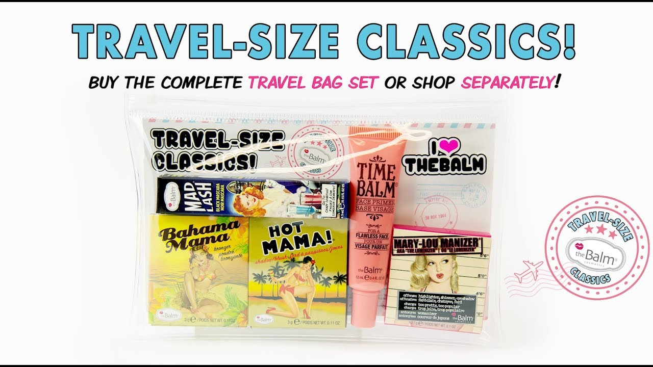 Just Landed: Travel-Size Products from theBalm!