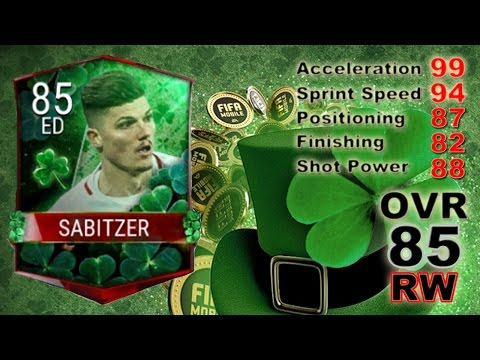 Fifa Mobile |  Sabitzer RW 85 |  Very Fast Player