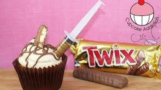Twix Cupcakes Recipe With Caramel Shots! Small Batch Baking With Cupcake Addiction