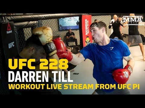 LIVE STREAM: Darren Till Media Workout and Scrum - MMA Fighting