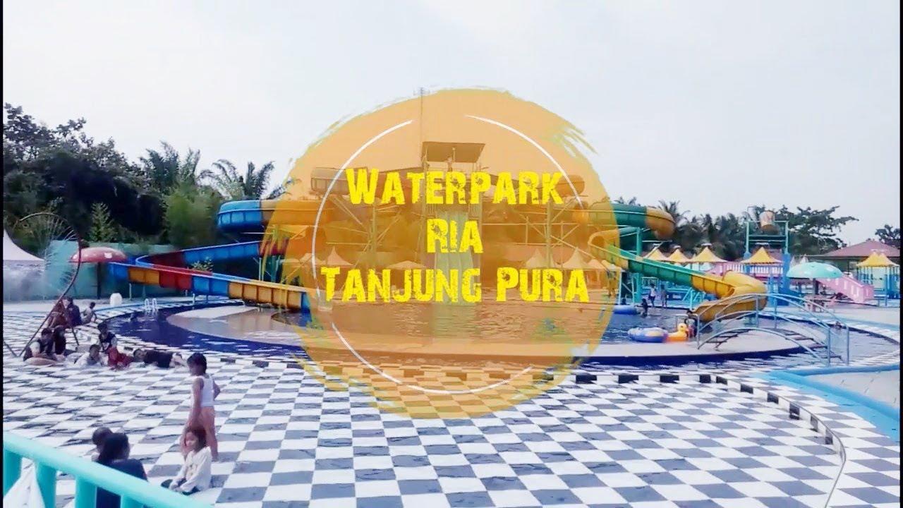 Serunya Liburan di Waterpark Ria Tanjung Pura LANGKAT, Harganya Murah Meriah