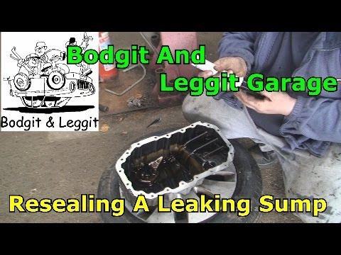 Audi/Volkewagen Sump leaking Resealing A3 Sump Bodgit And Le
