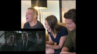 Mindhunter cast Jonathan Groff, Anna Torv & Holt McCallany reacting to The Groff Glare compilation