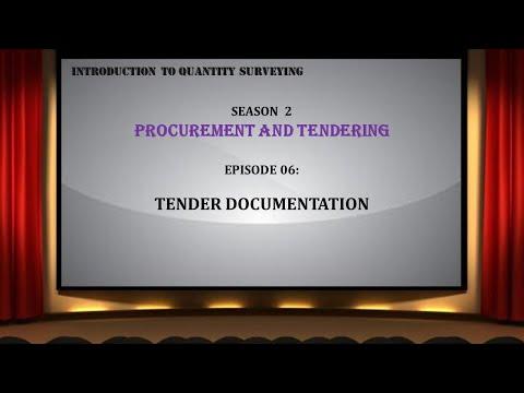 S02E06 Tender Documents