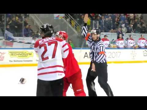 Канада Россия драка в конце. Универсиада полуфинал